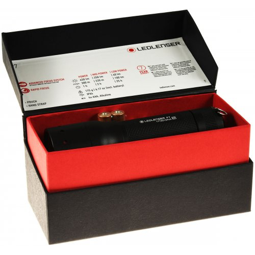 Lampe de poche Zweibrüder LED-Lenser 8407 P7    noir