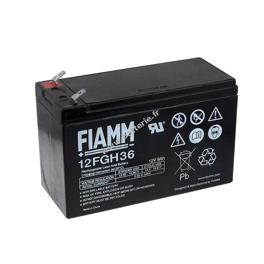 fiamm batterie au plomb rechargeable 12fgh36 hochstromfest. Black Bedroom Furniture Sets. Home Design Ideas